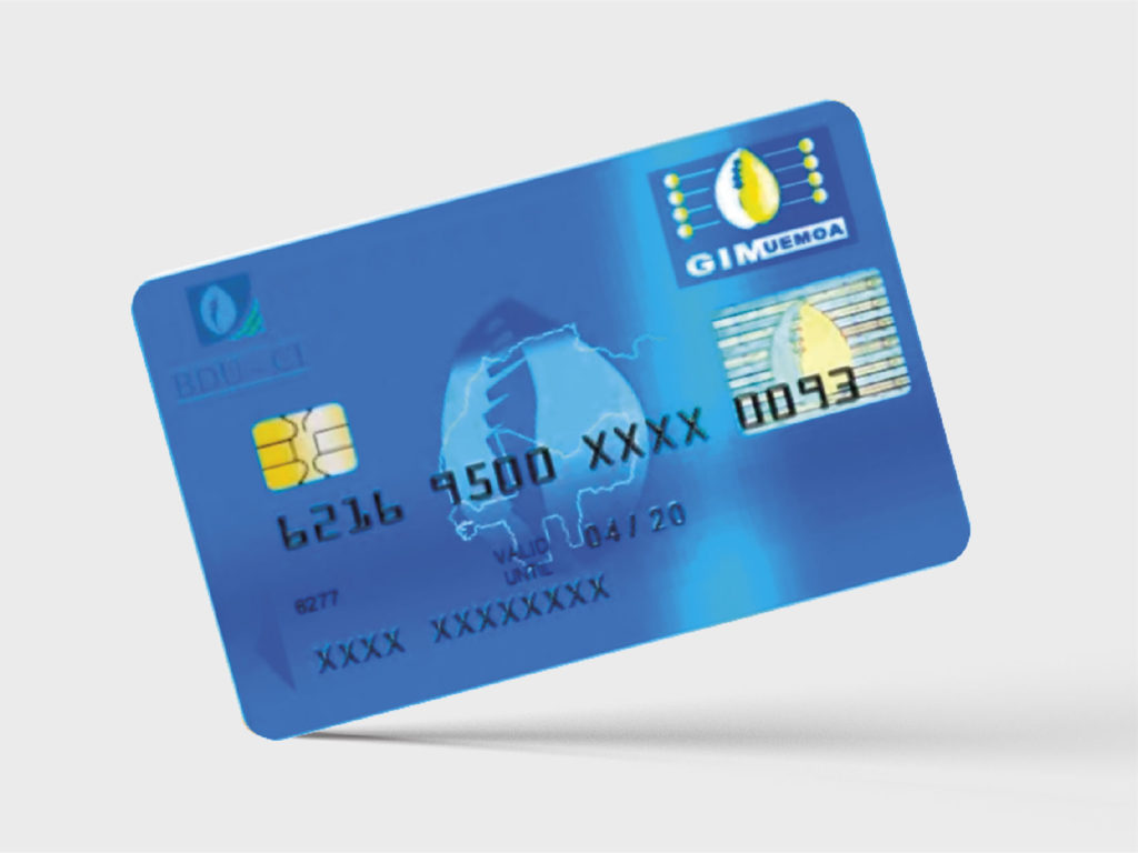 Carte bancaire BDU